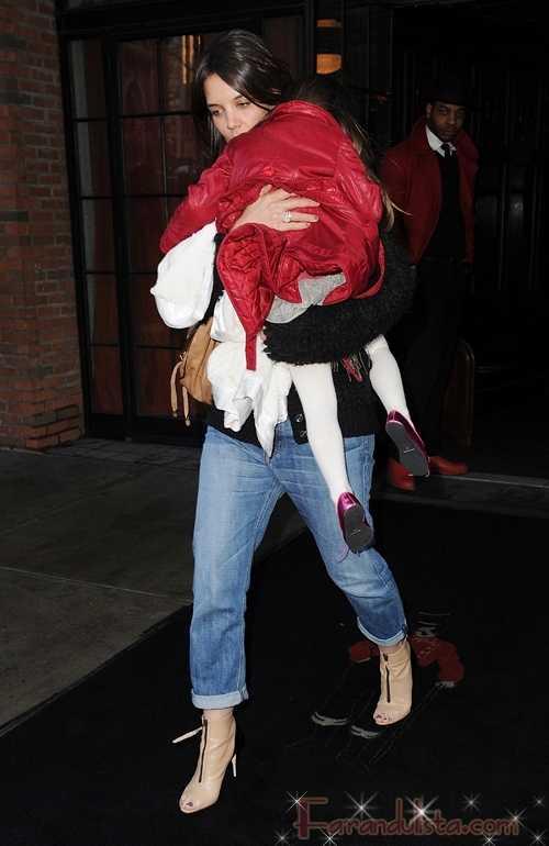 Katie Holmes preparandose para un segundo baby?