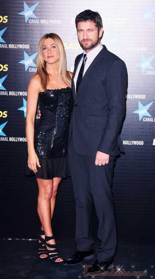 Jennifer Aniston y Gerard Butler en la Premier The Bounty Hunter en Madrid