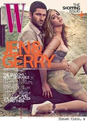Jen Aniston y Gerard Butler en W magazine HOT! HOT!