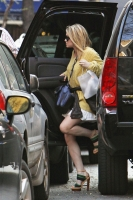 Ashley Olsen de amarillo en New York