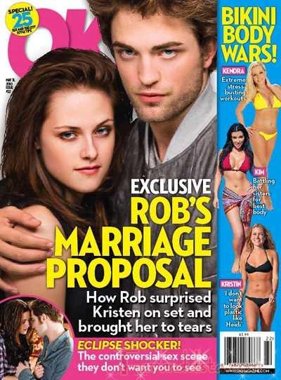 La proposición de Matrimonio de Robert Pattinson a Kristen - OK!