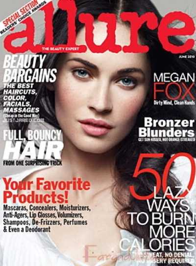 Megan Fox en Allure magazine Junio 2010