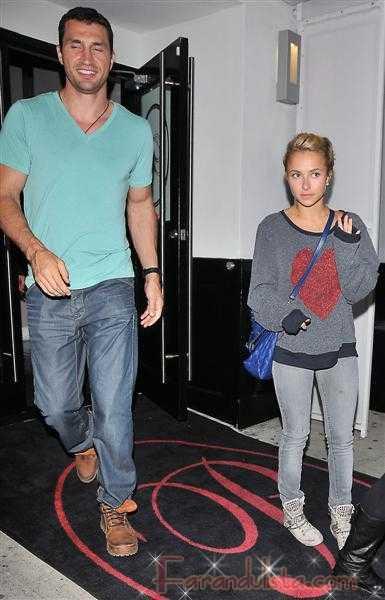 Hayden Panettiere con su novio Wladimir Klitschko