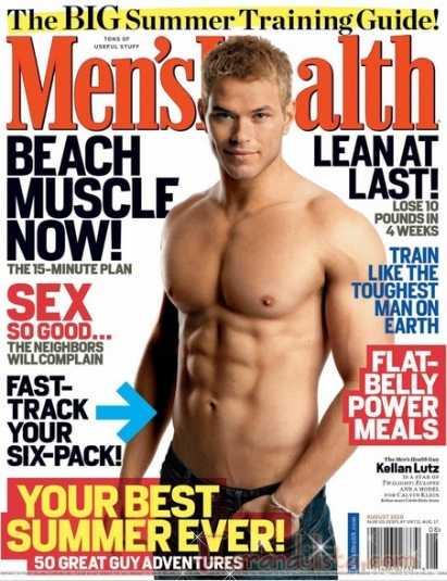 Kellan Lutz sin camisa en Men's Health magazine - Gossip Gossip!