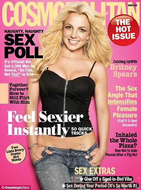 OMG!! Britney Spears en Cosmopolitan Agosto 2010