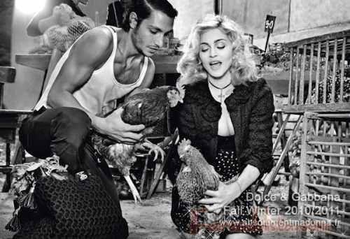 Madonna para Dolce & Gabbana Fall/Winter 2010/2011