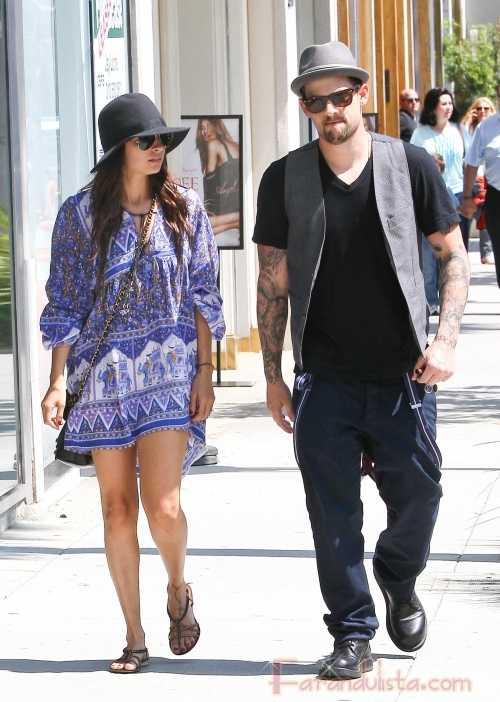 Nicole Richie y Joel Madden van a Nate 'n restaurant en Beverly Hills