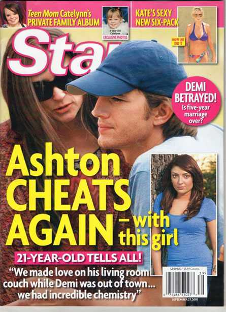 Ashton Kutcher le fue infiel a Demi Moore again? Yeah right! - Star