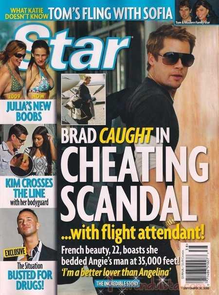 Brad Pitt le fue infiel a Angelina con una azafata? Star