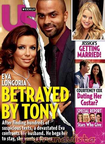 Eva Longoria traicionada por Tony Parker [Us magazine]