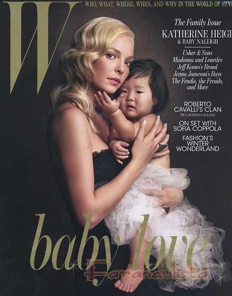 Katherine Heigl y su hija en W magazine| Katherine Heigl's daughter on W |