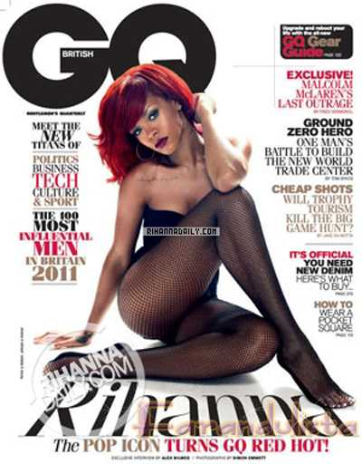 Rihanna RED HOT para GQ magazine (UK) - Fotos