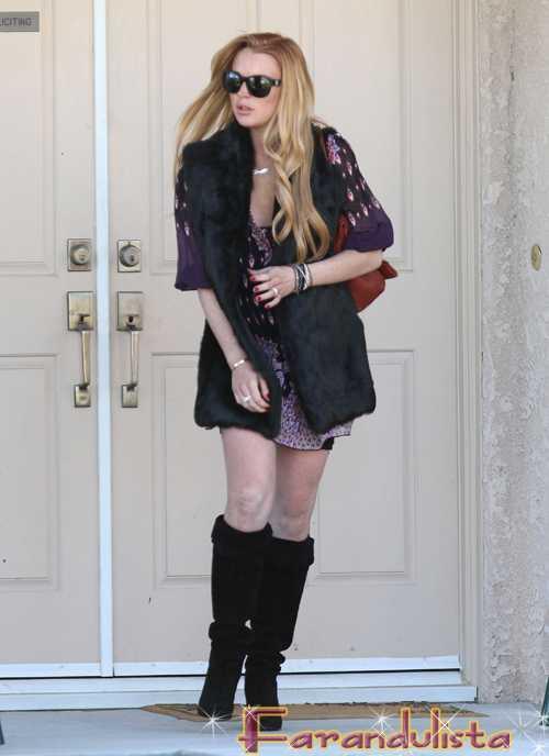 Lindsay Lohan sale de rehab y se muda al lado de Samantha Ronson