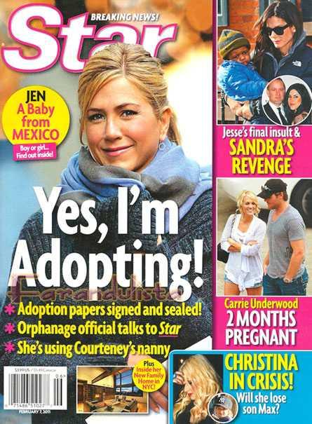 Jennifer Aniston adoptando un baby de México? No way!