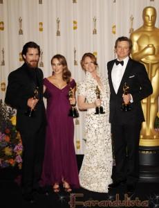 Ganadores Oscar 2011 - Natalie Portman y Christian Bale triunfan