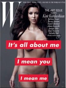 Kim Kardashian llora por sus fotos en W magazine... WTF???