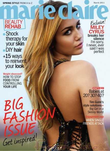 Miley Cyrus: No soy perfecta [Marie Claire - Marzo 2011]