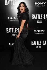 Michelle Rodriguez aclara rumores en la premier de Battle