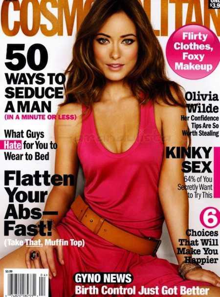 Olivia Wilde en Cosmopolitan magazine... Photoshopped!!!!