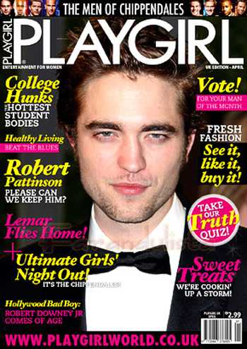 Robert Pattinson en Playgirl magazine [UK]