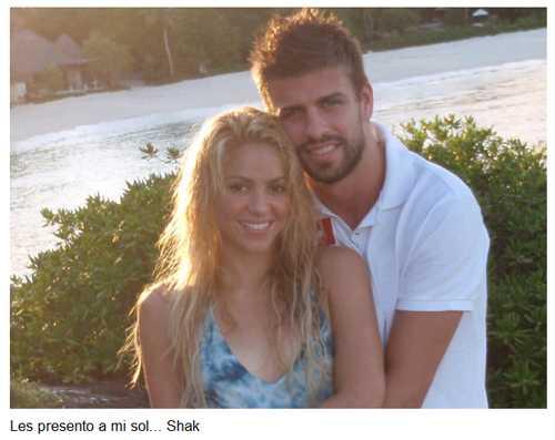 Shakira presenta a su sol - Pique en Twitter