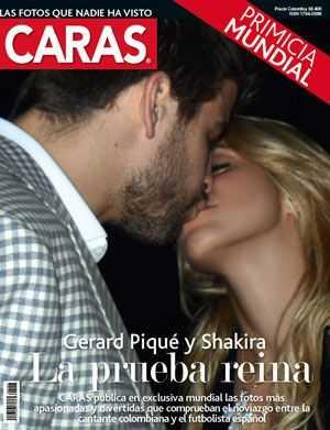 La foto de Shakira y Pique: El beso!!! Awww cute!