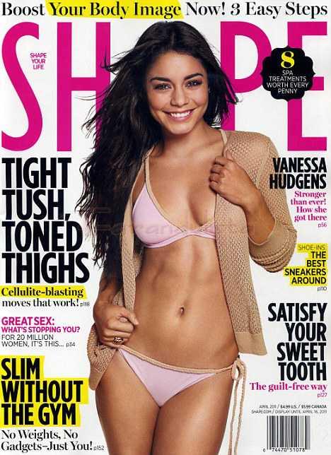 Vanessa Hudgens amaba la comida chatarra - Shape Magazine [Abril 2011]
