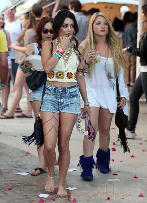 Vanessa Hudgens no estaba consumiendo drogas en el Coachella