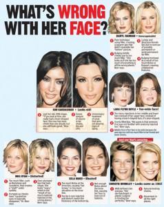 Las Celebs y las cirugias plásticas! Que está mal con sus rostros?