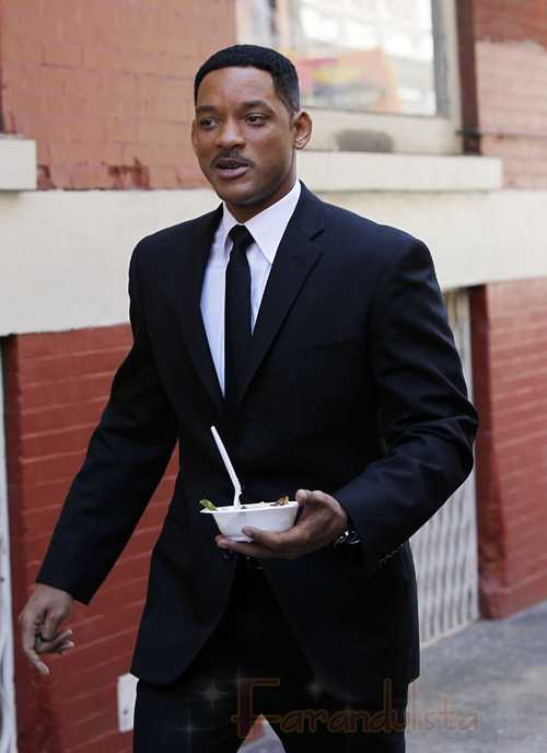 Will Smith en el set de Men in Black III - Yaaaay!!