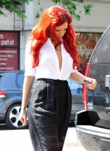 Rihanna cute en Da Silvano Restaurant NYC
