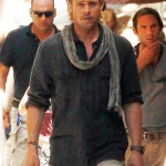 Brad Pitt en el set de World War Z en Malta