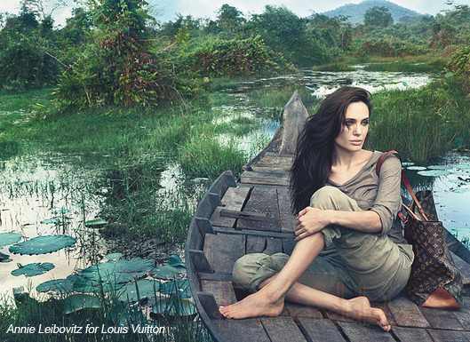 Angelina Jolie para Louis Vuitton - Core Values campaign