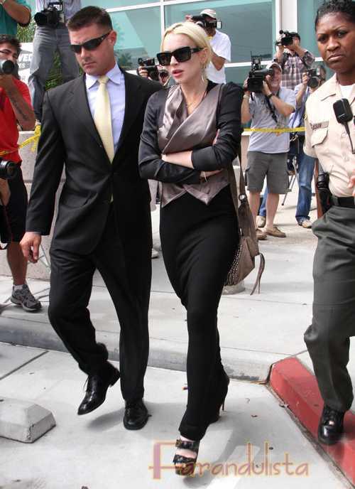 Lindsay Lohan hace molestar a la Juez en la Corte - No ha progresado
