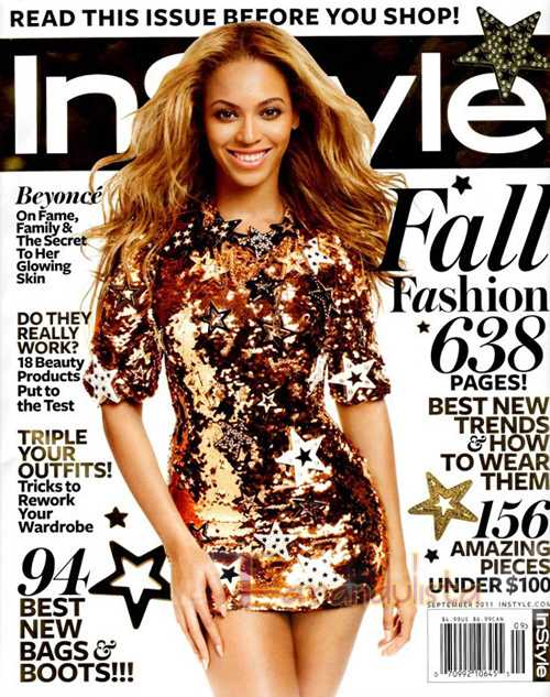 BEYONCE INSTYLE COVER