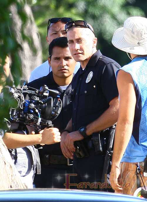 Jake Gyllenhaal sin cabello en su film 'End of Watch'