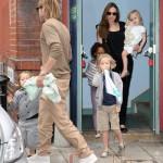 Angelina Jolie & Brad Pitt llevan a sus hijos al Cine