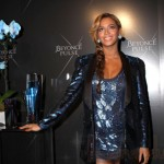 Beyonce en el lanzamiento de su perfume Pulse