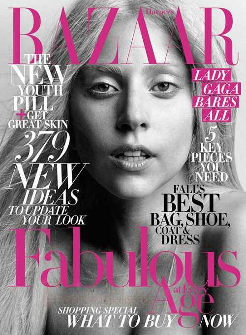 Lady Gaga au Natural en Harper's Bazaar - La Lady Gaga Real?
