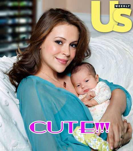 Alyssa Milano y su baby Milo Thomas Bugliari
