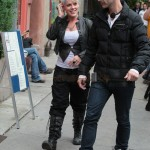 Pink en el set de Thanks for sharing