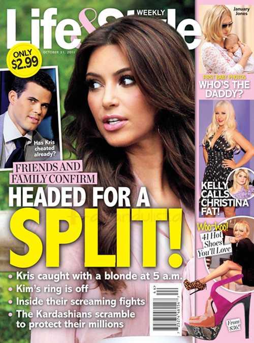 Kim Kardashian y Kris Humphries rumbo al divorcio [Life&Style]