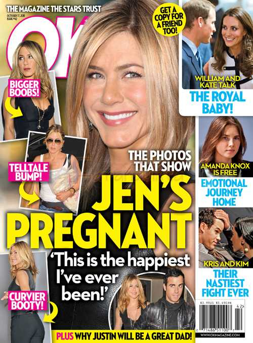Jennifer Aniston EMBARAZADA? Nope, no está desesperada