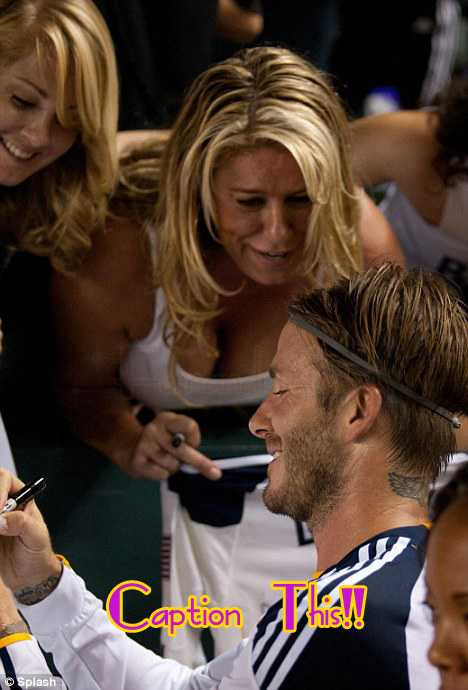 Farandulistas, Caption this! Becks y una fan