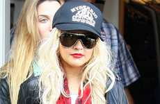 Christina Aguilera en Fred Segal en Hollywood