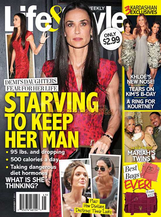 Demi Moore muere de hambre por Ashton Kutcher? Life&Style