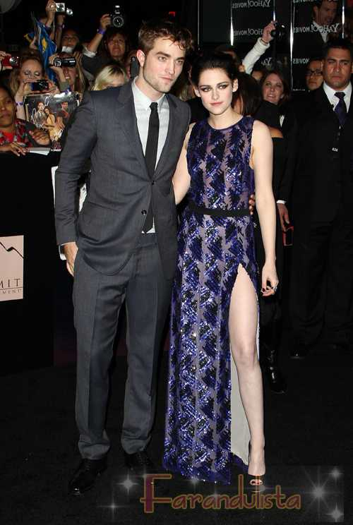 Robert Pattinson y Kristen Stewart en la Premier de Breaking Dawn