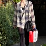 Ashlee Simpson visitando Wella Salon en Los Angeles