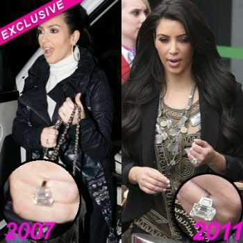 Kim Kardashian tenía su anillo de compromiso desde hace años!!
