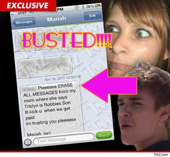 Mariah Yeater fue pillada mintiendo sobre Justin Bieber